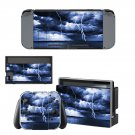 Lightning cloudy sky Nintendo switch console sticker skin