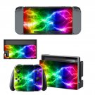 Abstract lightning Nintendo switch console sticker skin
