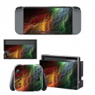 Abstract lightning art Nintendo switch console sticker skin
