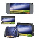 Lightning sky with nature view Nintendo switch console sticker skin