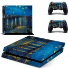 Starry Night ps4 skin decal for console and 2 controllers