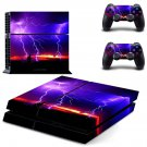 Lightning sky ps4 skin decal for console and 2 controllers