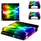 Abstract lightning ps4 skin decal for console and 2 controllers