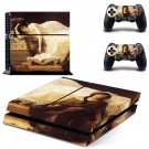 Tristan and Isolde painting ps4 skin decal for console and 2 controllers