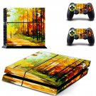 Painting of nature ps4 skin decal for console and 2 controllers