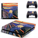 The Scream ps4 skin decal for console and 2 controllers