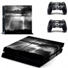 Lightning cloudy sky ps4 skin decal for console and 2 controllers