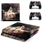 The lady of shalott ps4 skin decal for console and 2 controllers