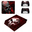 Skull skin ps4 pro skin decal for console and controllers