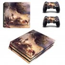 Famous oil painting ps4 pro skin decal for console and controllers