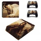 Tristan and Isolde painting ps4 pro skin decal for console and controllers