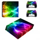Abstract lightning ps4 pro skin decal for console and controllers