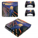 The Scream ps4 slim skin decal for console and controllers