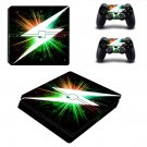 Lightning Bolt ps4 slim skin decal for console and controllers