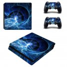 Lightning Galaxy ps4 slim skin decal for console and controllers