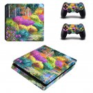Oil Painting of nature ps4 slim skin decal for console and controllers