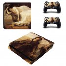 Tristan and Isolde painting ps4 slim skin decal for console and controllers