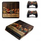 Jesus christ last supper painting ps4 slim skin decal for console and controllers