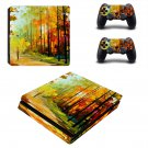 Painting of nature ps4 slim skin decal for console and controllers