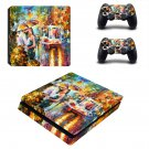 Kiss of Passion ps4 slim skin decal for console and controllers