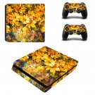 Yellow flowers oil painting ps4 slim skin decal for console and controllers