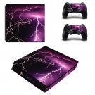 Lightning cloudy sky ps4 slim skin decal for console and controllers