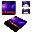 Lightning sky ps4 slim skin decal for console and controllers