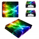 Abstract lightning ps4 slim skin decal for console and controllers