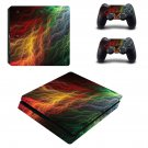 Abstract lightning art ps4 slim skin decal for console and controllers
