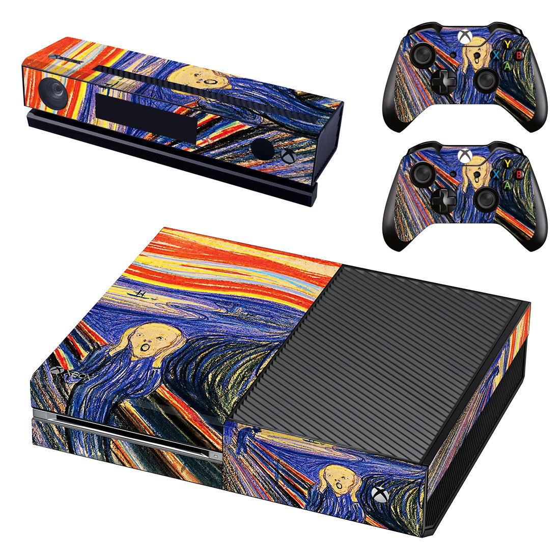 The Scream skin decal for Xbox one console and controllers