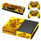 Flower paintaing skin decal for Xbox one console and controllers