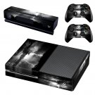 Black Cloudy Lightning sky skin decal for Xbox one console and controllers