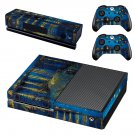 Starry night skin decal for Xbox one console and controllers