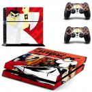 Samurai Jack ps4 skin decal for console and 2 controllers