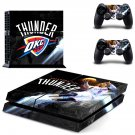 Oklahoma City Thunder ps4 skin decal for console and 2 controllers