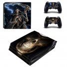 Skeleton Skull ps4 pro skin decal for console and controllers