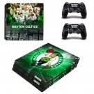 Boston Celtics ps4 pro skin decal for console and controllers