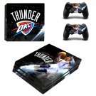 Oklahoma City Thunder ps4 pro skin decal for console and controllers