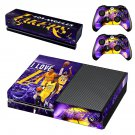 Los Angeles Lakers skin decal for Xbox one console and controllers