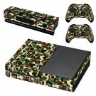 green camouflage skin decal for Xbox one console and controllers