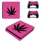 Cannabis leaf ps4 slim skin decal for console and controllers