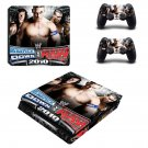 WWE SmackDown vs Raw 2010 ps4 slim skin decal for console and controllers