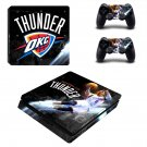 Oklahoma City Thunder ps4 slim skin decal for console and controllers