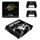 San Antonio Spurs ps4 slim skin decal for console and controllers