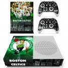 Boston Celtics skin decal for Xbox one Slim console and controllers