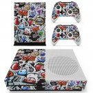 Graffiti  skin decal for Xbox one Slim console and controllers
