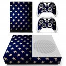 White stars skin decal for Xbox one S console and controllers