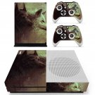 Pair wolf skin decal for Xbox one Slim console and controllers