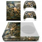 Civil war painting skin decal for Xbox one S console and controllers