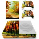 Painting of nature  skin decal for Xbox one S console and controllers